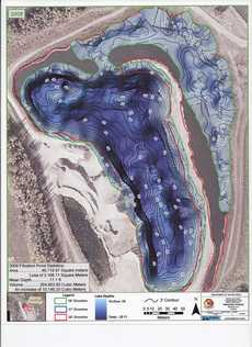 Map of water treatment pond